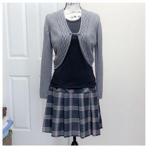 ❤️Sassy pleated school girl skirt grey and beige❤️